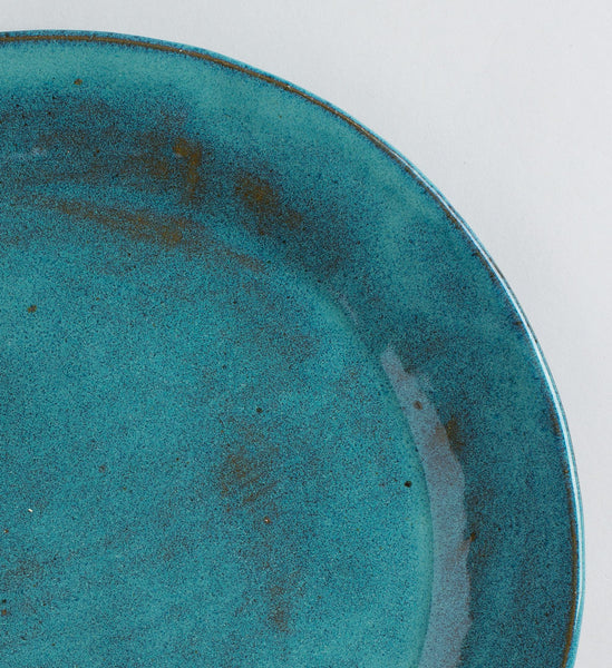 teal plates-kitchen & dining - dinnerware - gathering-tivoli tile works-k colette