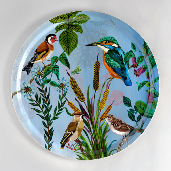 birds in the dunes kingfisher tray-kitchen & dining - serveware-avenida home-k colette