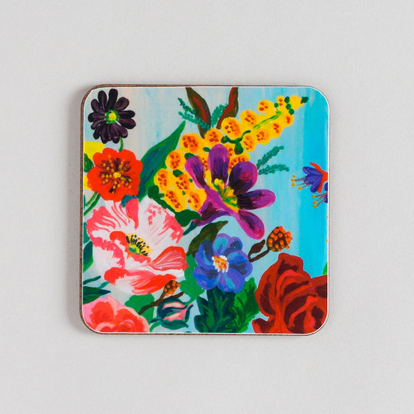 garden flowers coaster set-kitchen & dining - bar & drinkware-avenida home-k colette