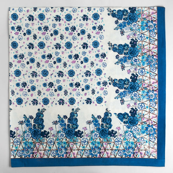 fleur sauvage blue tablecloth-kitchen & dining - table linens-couleur nature-k colette