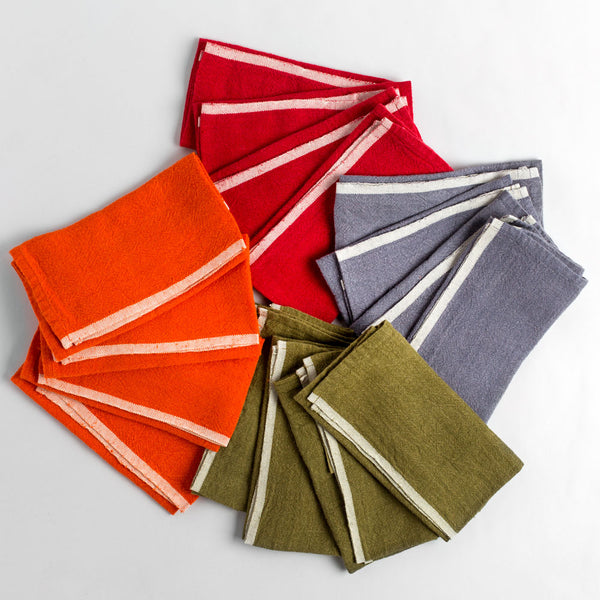 chunky linen napkin set-kitchen & dining - table linens-couleur nature-k colette