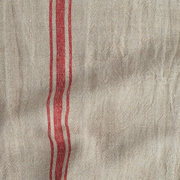 red stripe khadi vintage linen table runner-kitchen & dining - table linens-couleur nature-k colette