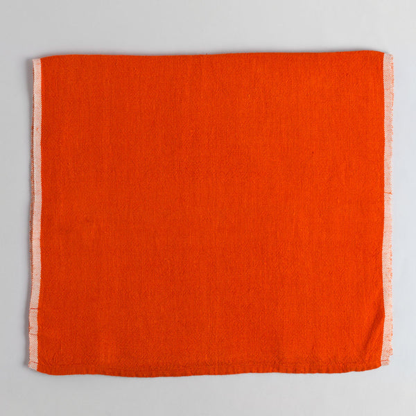 chunky linen table runner-kitchen & dining - table linens-couleur nature-orange-k colette