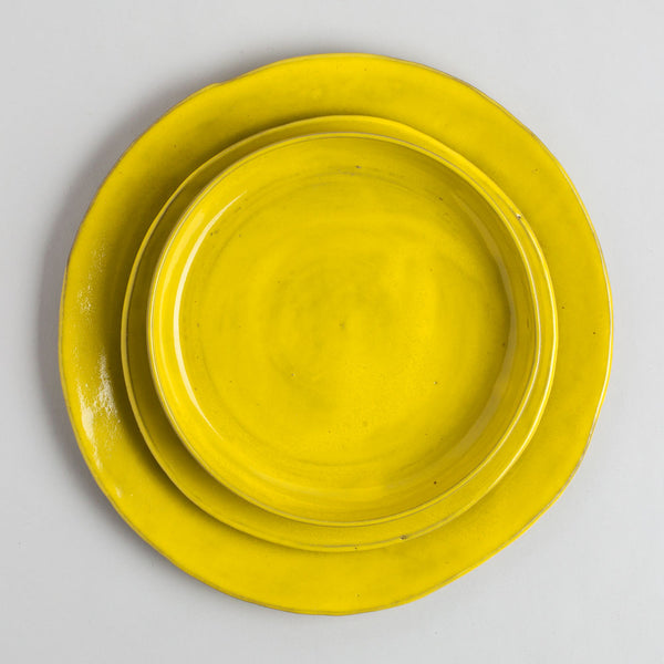 yellow plates-kitchen & dining - dinnerware - heirloom - special-tivoli tile works-k colette