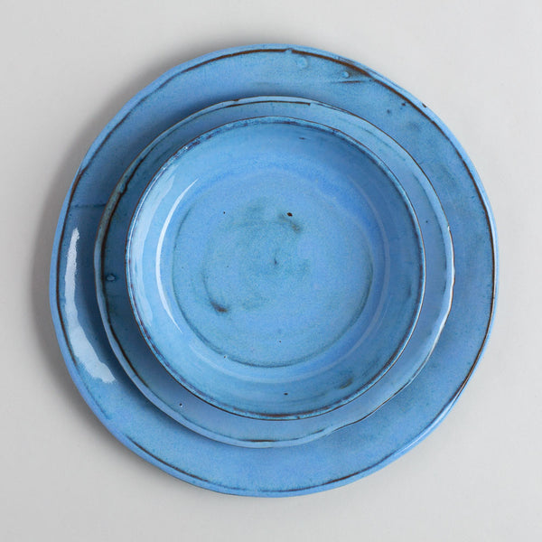 cornflower blue plates-kitchen & dining - dinnerware-tivoli tile works-k colette