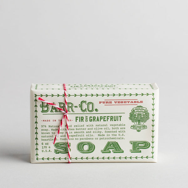 fir & grapefruit bar soap-holiday - apothecary - soaps & lotions-barr-co. by k hall designs-k colette