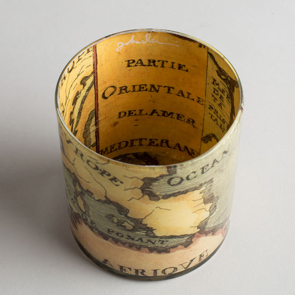 18th century map desk cup-art & decor - decoupage - desktop - utility & storage-john derian-k colette