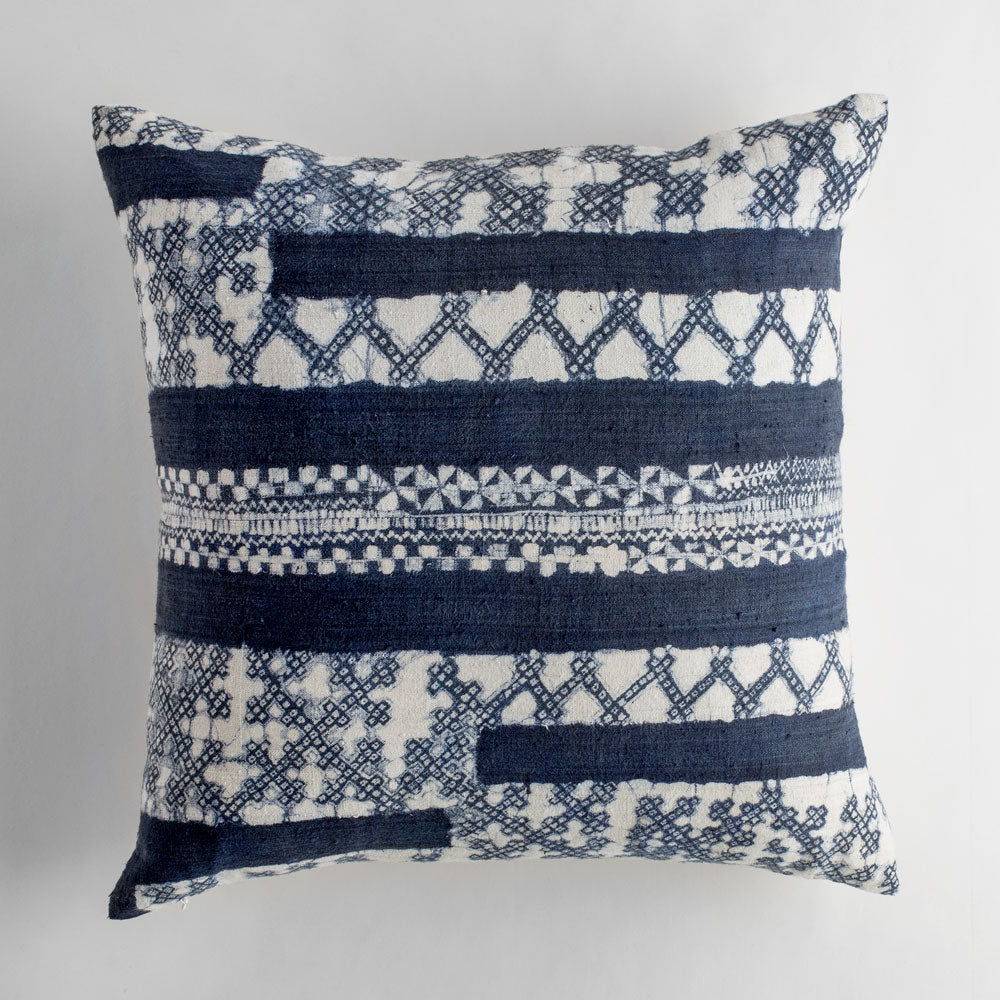 vintage hilltribe batik indigo pillowbed u0026 bath art u0026 decor pillows