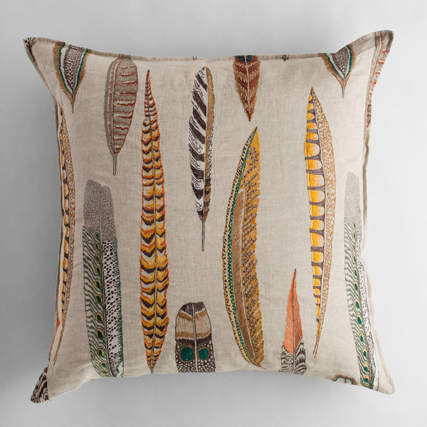 limited edition plumes euro pillow-bed & bath - art & decor - pillows-coral & tusk-k colette
