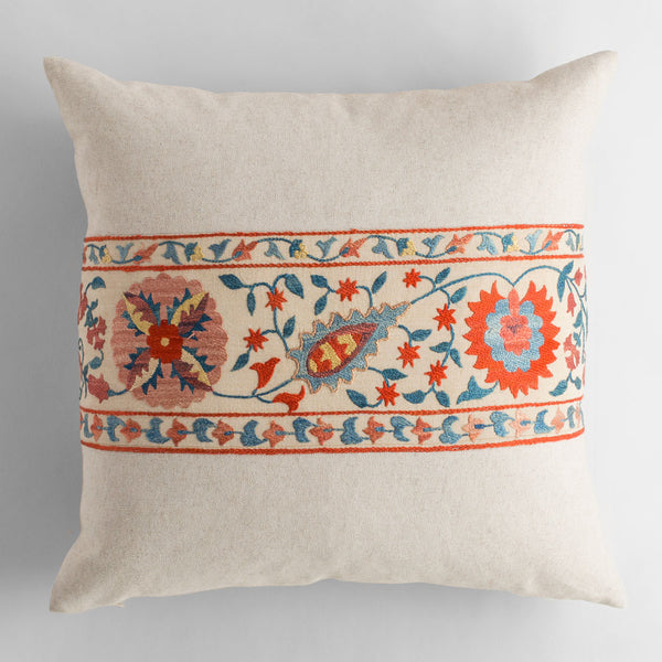 vintage suzani vine pillow-bed & bath - art & decor - pillows - vintage textiles-john robshaw-k colette