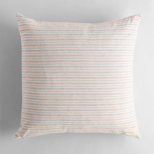 homespun linen pillow, red-bed & bath - decor - pillows - vintage textiles-luru home-k colette