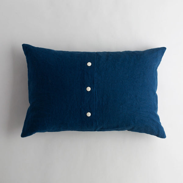 indigo lake linen pillow-bed & bath - decor - pillows-taylor linens-k colette