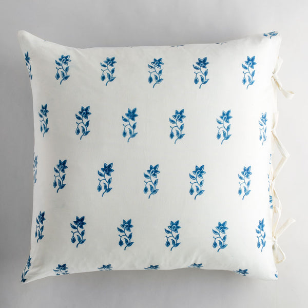 "violetta indigo pillow-bed & bath - art & decor - pillows-les indiennes-26"" x 26"" euro-k colette"