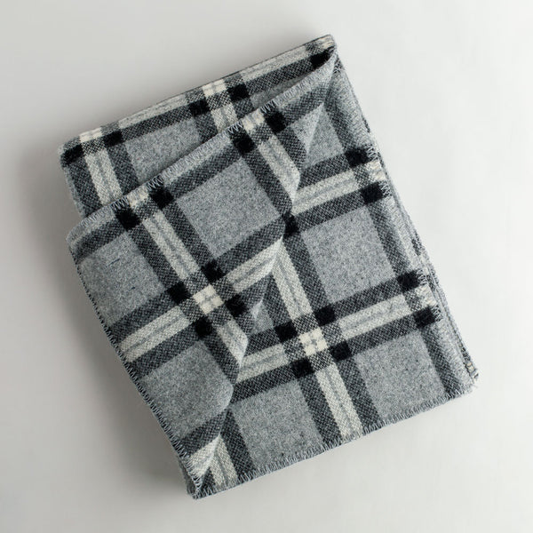 plaid soho wool throw-art & decor - throws - for him-faribault woolen mill co.-k colette