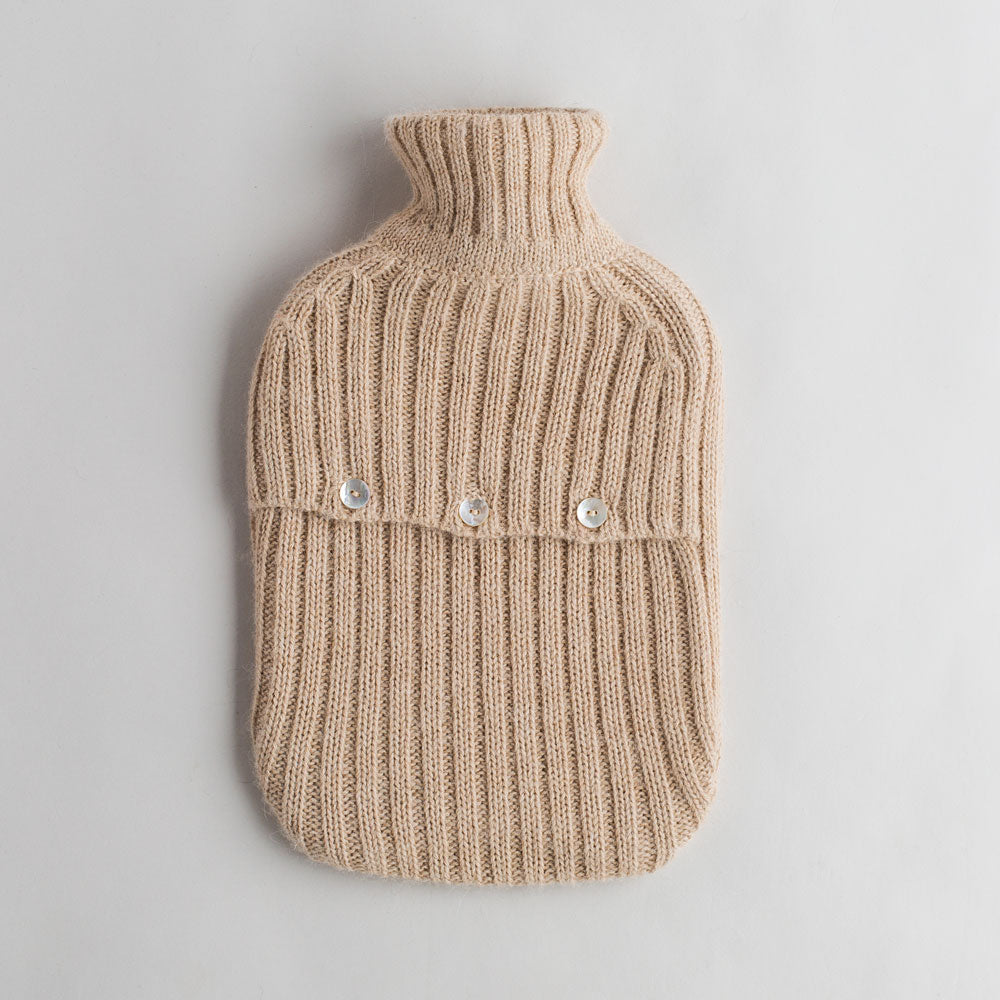 alpaca hot water bottle cover-bed & bath - bedding - cozy - stocking-alicia adams alpaca-beige-k colette