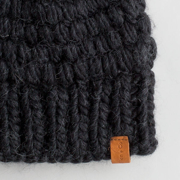 chunky crocheted hat-accessories - hats & gloves-sien + co-black-k colette