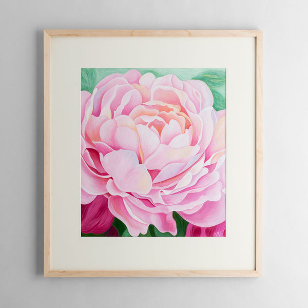 peony original watercolor painting-art & decor - paintings & prints - luxury-mary michola fibich-k colette