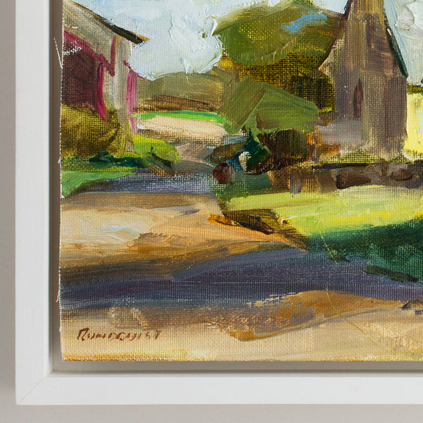 'main street' oil painting-art & decor - paintings & prints - maine - heirloom-beth rundquist-k colette