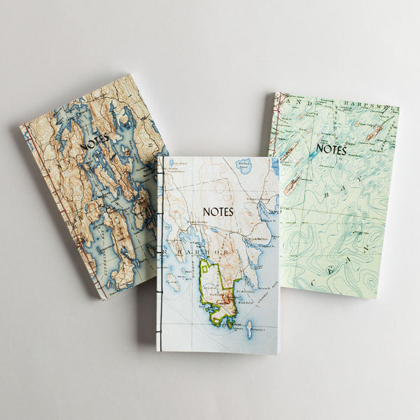 vintage map travel book-desktop - journals - maine - sea - stocking-dski design-k colette