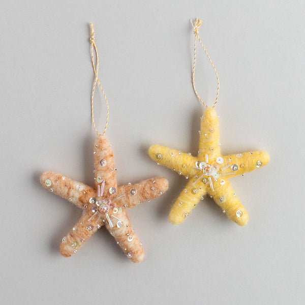 starfish ornament-holiday - ornaments - maine-thirdlee & co.-k colette