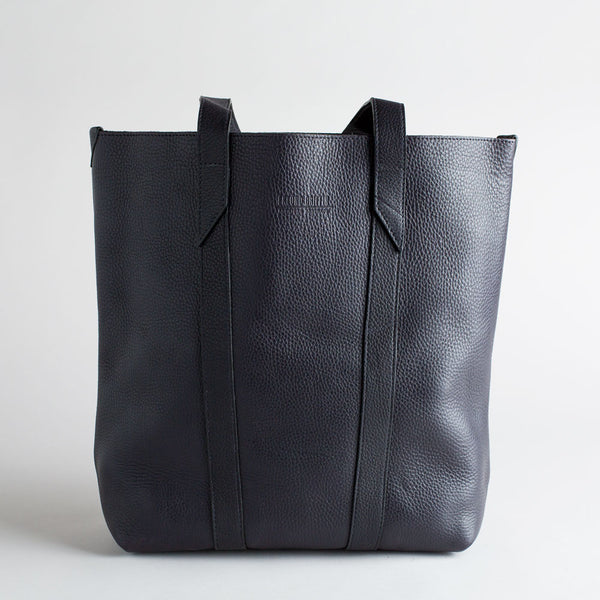 black leather infinity tote-accessories - handbags & clutches-eklund griffin-k colette