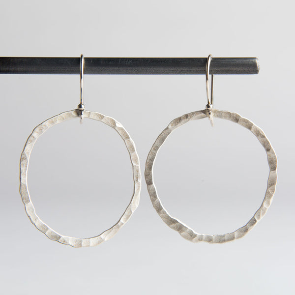 groovy hammered circle earrings-accessories - jewelry - for her-lisa gent jewelry-k colette