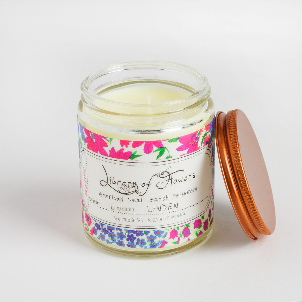 linden candle-apothecary - candles-library of flowers-k colette