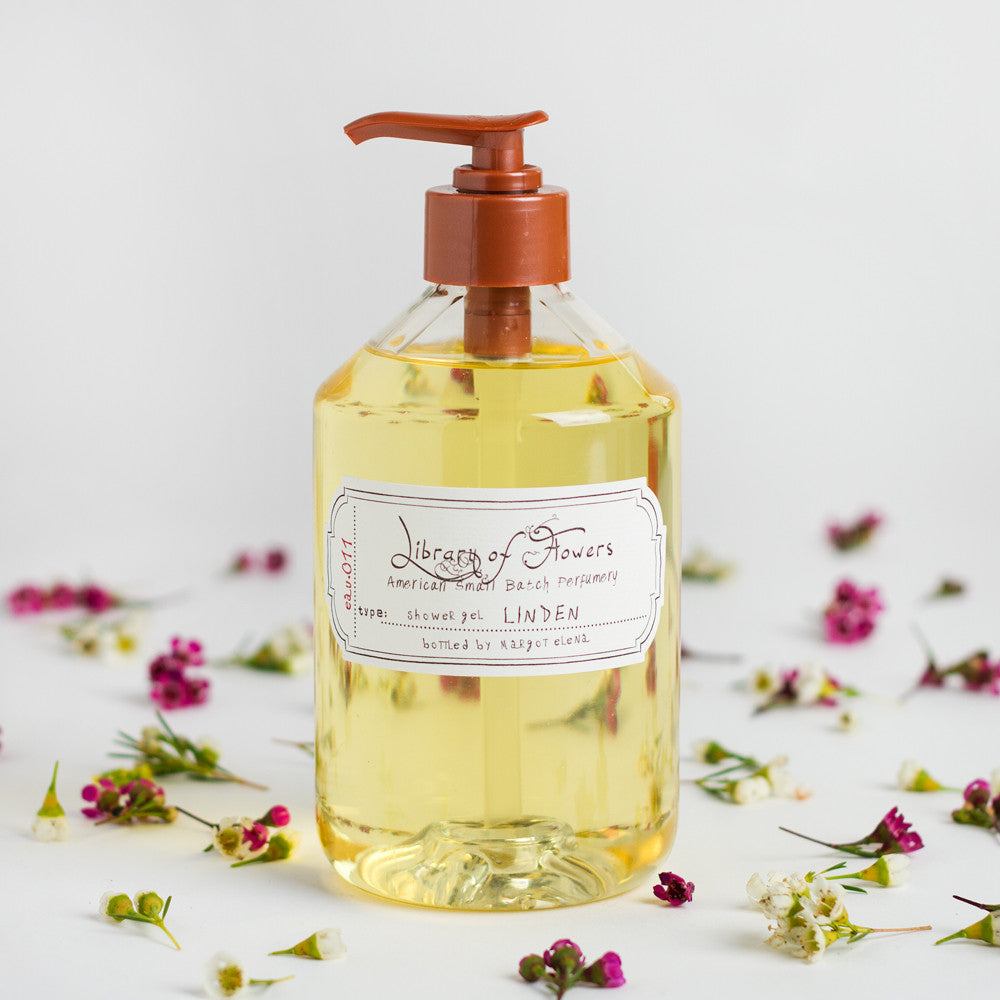 linden shower gel-apothecary - soaps & lotions-library of flowers-k colette