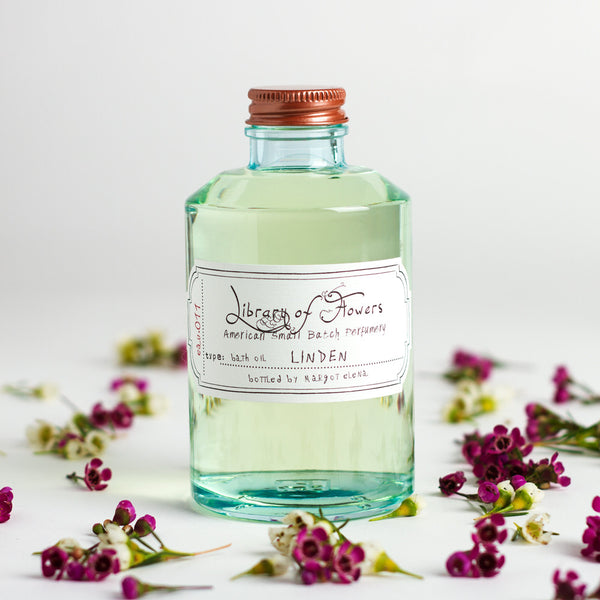 linden bath oil-apothecary - oils & elixirs - sale-library of flowers-k colette
