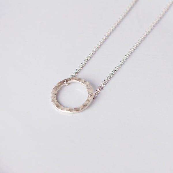 simple hammered circle necklace-accessories - jewelry-lisa gent jewelry-k colette