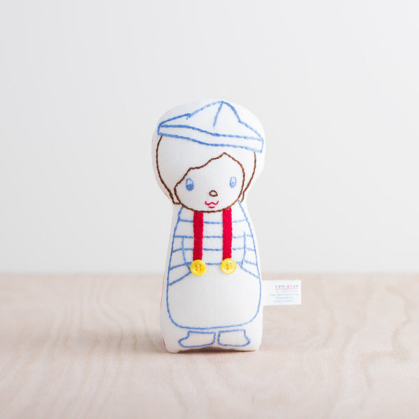 hand stitched sailor doll-baby - toys-leilalou-k colette