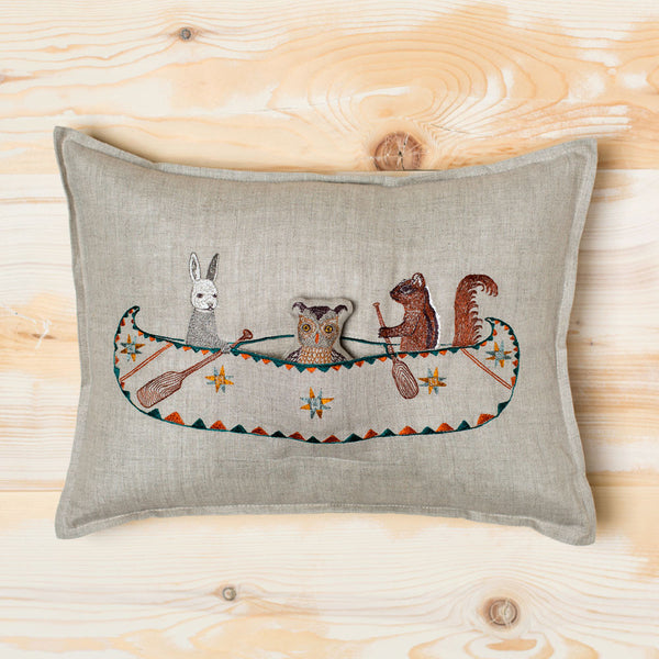 topridge friends canoe pillow-bed & bath - decor - pillows-coral & tusk-k colette
