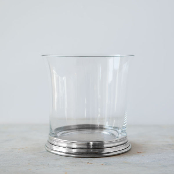 crystal & pewter ice bucket-kitchen & dining - bar & drinkware - love-match-k colette