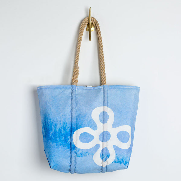 watercolor floret sea bags tote-accessories - handbags & clutches - maine - ooak-sea bags-k colette