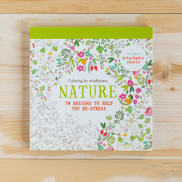 coloring mindfulness: nature-desktop - books-hamlyn publishing-k colette