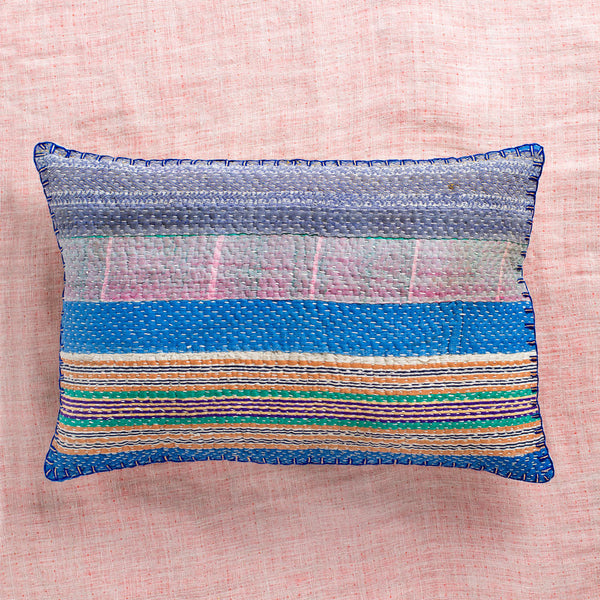 vintage ralli multicolor lumbar pillow no. 1-bed & bath - decor - pillows - vintage textiles-john robshaw-k colette
