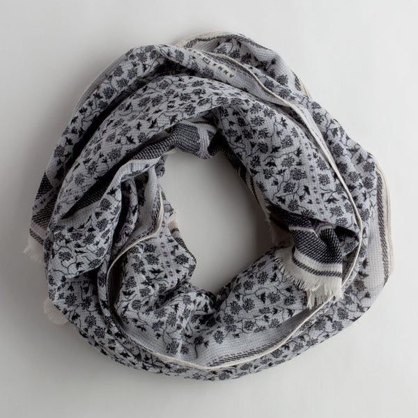 black & lavender honore wool scarf-accessories - scarves-anna kaszer-k colette