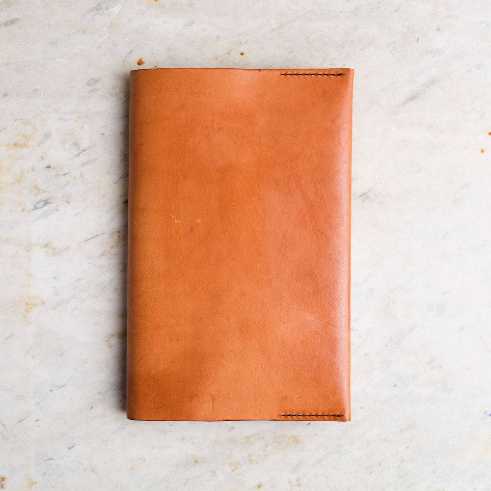 leather covered journal-desktop - journals-a.b.k.-natural-k colette