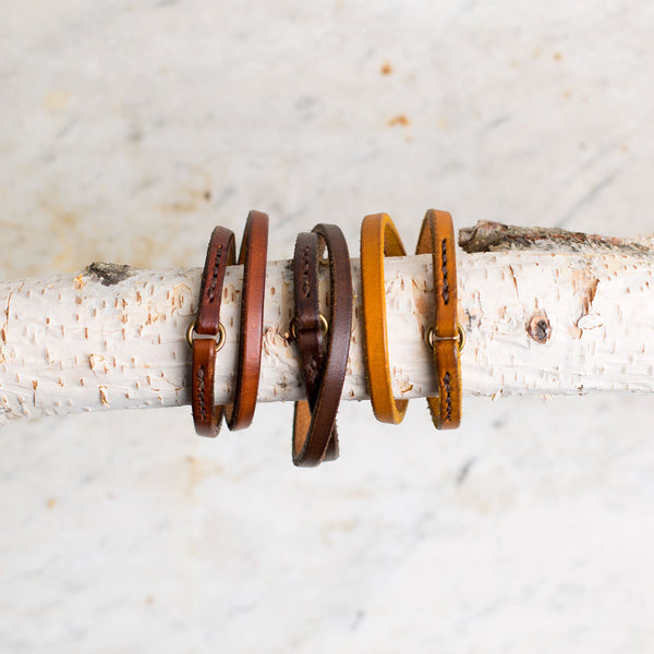 double wrap leather bracelet-accessories - jewelry - sale-a.b.k.-orange-small-k colette