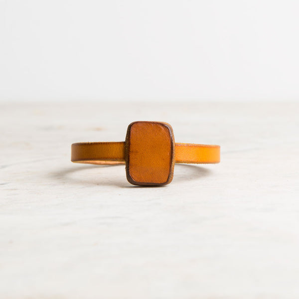 chas leather bracelet-accessories - jewelry-a.b.k.-yellow-small-k colette