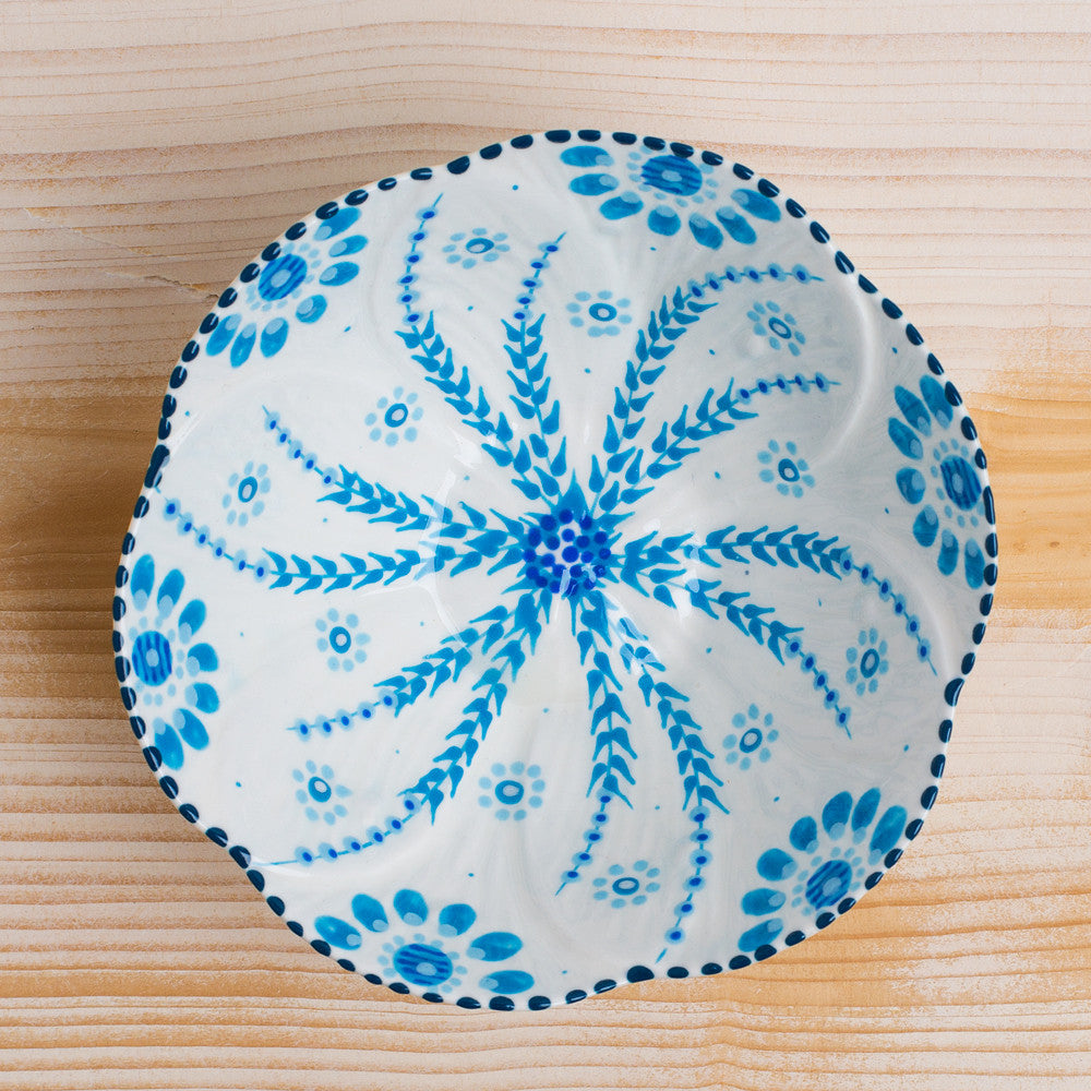 poppy peanut bowl-kitchen & dining - serveware-potterseed-blue on white-k colette