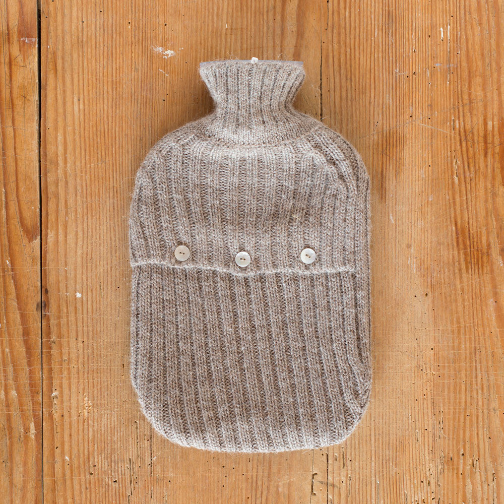 alpaca hot water bottle cover-textiles - bedding-alicia adams alpaca-taupe-k colette