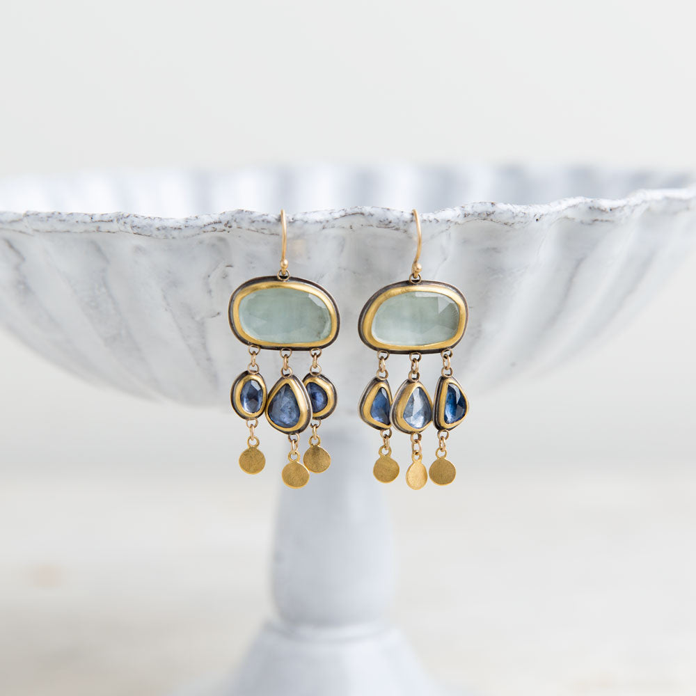 aquamarine and blue sapphire drop earrings-accessories - jewelry-ananda khalsa-k colette