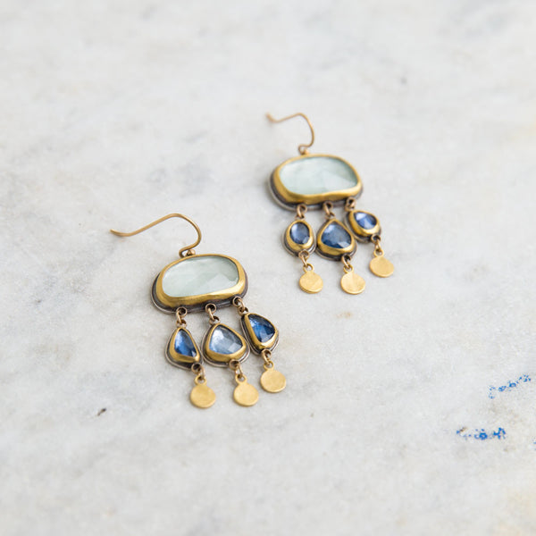 aquamarine and blue sapphire drop earrings-accessories - jewelry-ananda khalsa-Default Title-k colette