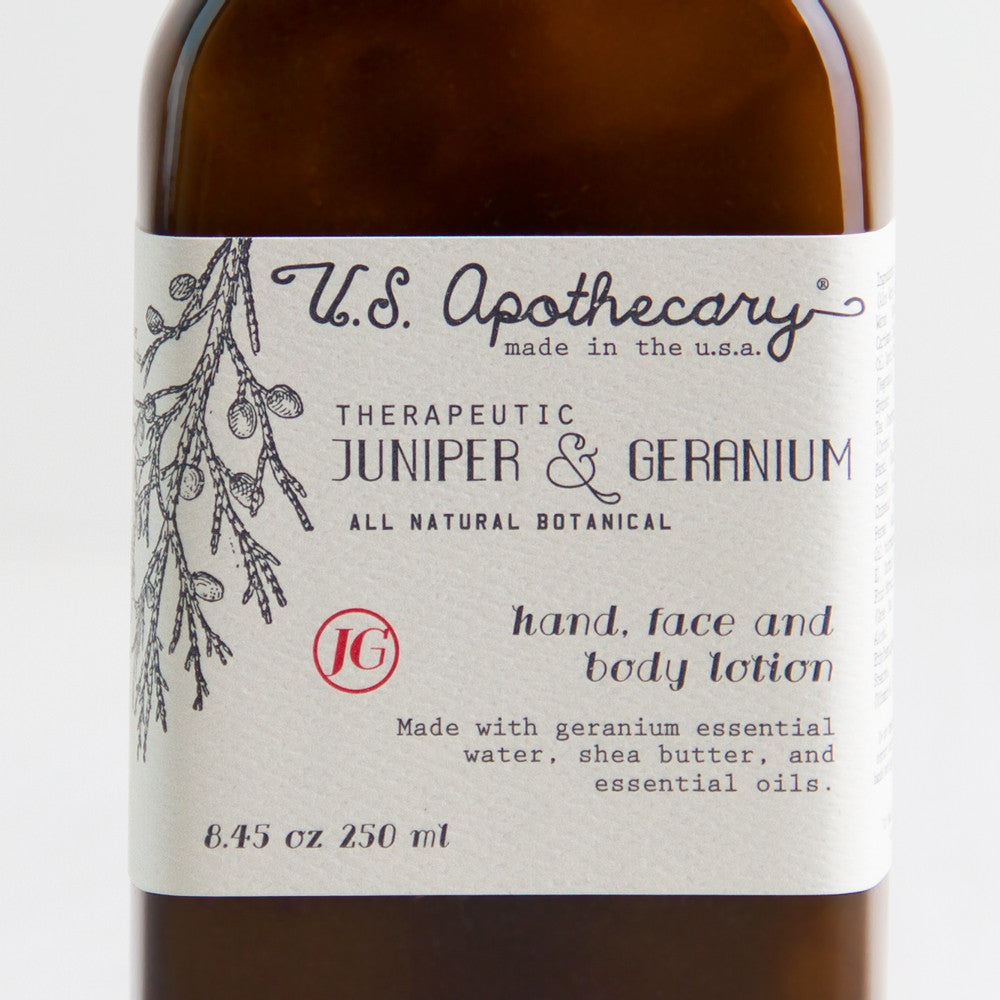 juniper & geranium hand & body lotion-apothecary - soaps & lotions-us apothecary by k hall designs-k colette