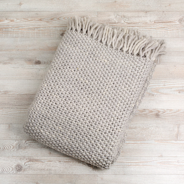 gilou wool blanket-textiles - throws-arcade avec-light gray-k colette
