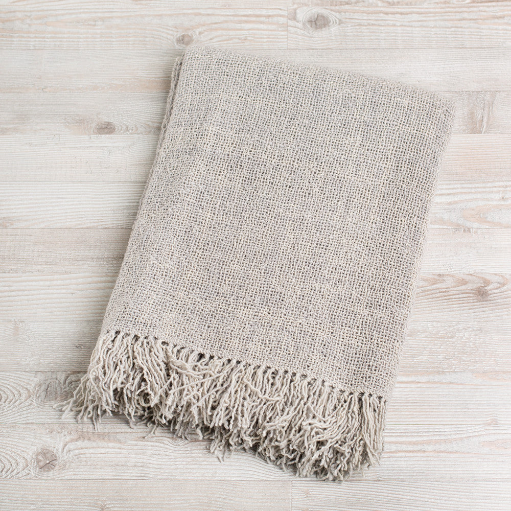 summertime wool blanket-textiles - throws-arcade avec-light gray-k colette