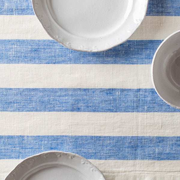 "blue & white philippe table runner-kitchen & dining - table linens-linenMe-16"" x 108""-k colette"