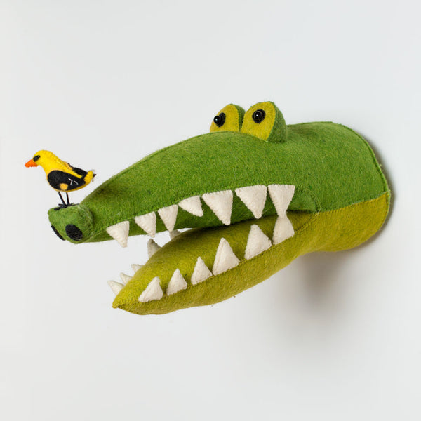 crocodile & birdie head-baby - nursery decor-fiona walker-k colette