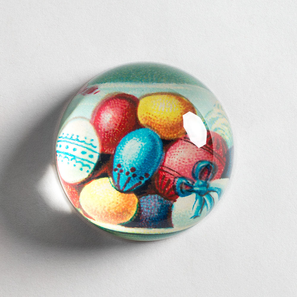 easter eggs dome paperweight-desktop - paperweights-john derian-k colette